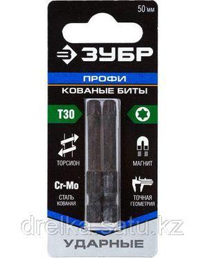 Биты для шуруповерта ЗУБР 26025-30-50-S2, TORX, тип хвостовика E 1/4, T30, 50 мм, 2 шт. , фото 2