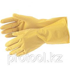 Перчатки хозяйственные латексные, XL СИБРТЕХ