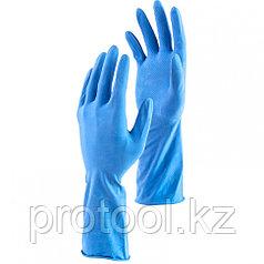 Перчатки хозяйственные латексные c хлопковым напылением, S Elfe