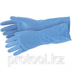 Перчатки хозяйственные латексные c хлопковым напылением, M Elfe