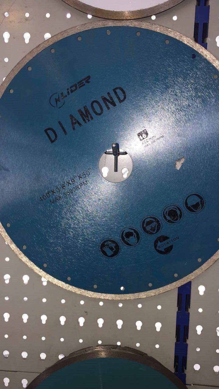 Сплошной алмазный диск по камню ф 400