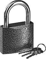 "Замок STAYER ""STANDARD"" навесной, металлический корпус, закаленная дужка, 75 мм"