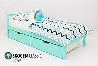 Детская кровать Бельмарко «Skogen classic мятный»+(Изголовье-крыша+бортик), фото 2