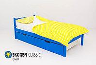 Деревянная кровать Бельмарко ''Skogen classic синий'', фото 2