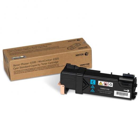 Тонер-картридж Голубой (Cyan) для Xerox Phaser 6500, Xerox WorkCentre 6505 (106R01598) Оригинал
