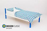 Детская кровать Бельмарко «Skogen classic Сине-Белый», фото 2