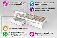 Детская кровать Бельмарко «Skogen classic Сине-Белый», фото 3