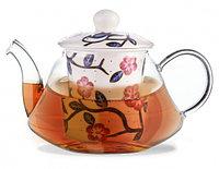 9274 FISSMAN Заварочный чайник CASABLANCA 600 мл с керамическим фильтром и крышкой (стекло)