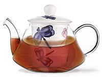9275 FISSMAN Заварочный чайник CASABLANCA 1000 мл с керамическим фильтром и крышкой (стекло)