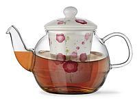 9276 FISSMAN Заварочный чайник CASABLANCA 600 мл с керамическим фильтром и крышкой (стекло)