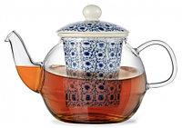 9277 FISSMAN Заварочный чайник CASABLANCA 1000 мл с керамическим фильтром и крышкой (стекло)
