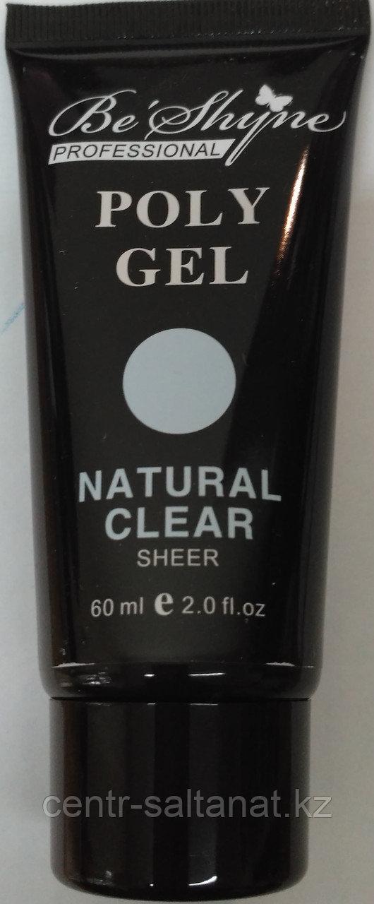 Поли гель Poli Gel 60 ml для экспресс наращивания ногтей прозрачный, Ice Clear