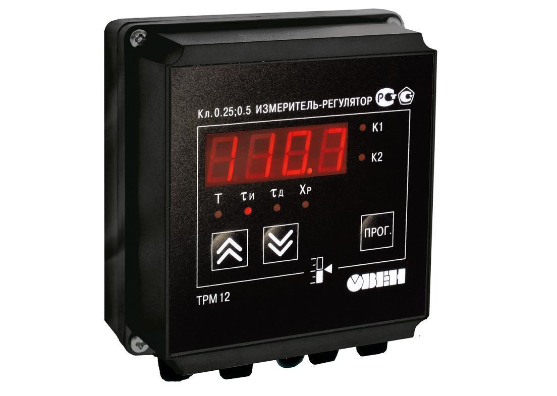 ТРМ12 - Измеритель, ПИД-регулятор для управления задвижками и трехходовыми клапанами (Р, К, С, Т)