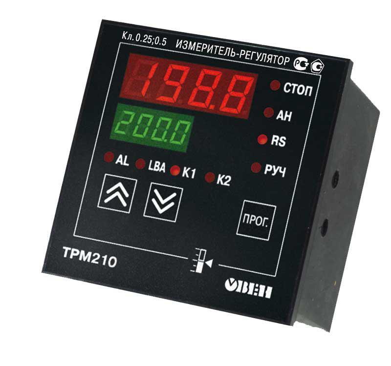 ТРМ210 - Измеритель, ПИД-регулятор c интерфейсом RS485 (Р, К, С, Т, И, У)