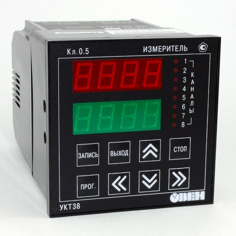 УКТ38-Щ4 - Устройство контроля температуры восьмиканальное с аварийной сигнализацией