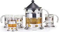 9230 FISSMAN Чайный набор ART 5 пр.: заварочный чайник 1200 мл и 4 кружки 200 мл
