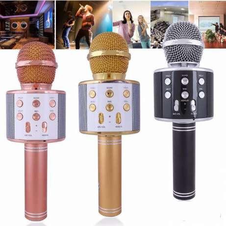 Караоке Микрофон WS-858 (USB, microSD, AUX, Bluetooth)