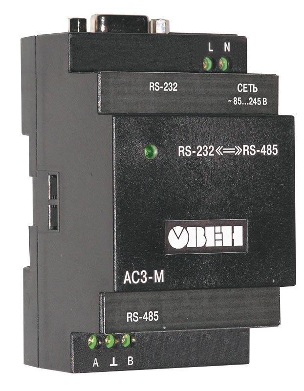 АС3-М. Автоматический преобразователь интерфейсов RS232/RS485.