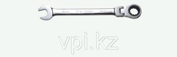 Рожково-накидной ключ с трещеткой,  16мм De&Li
