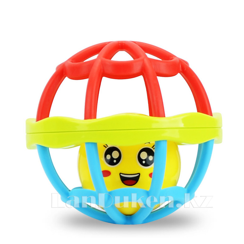 Погремушка для детей (прорезыватель) в виде шара - фото 2