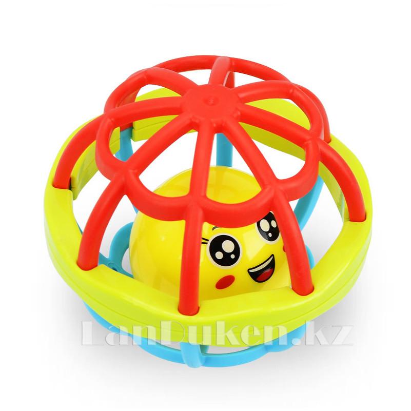 Погремушка для детей (прорезыватель) в виде шара - фото 3
