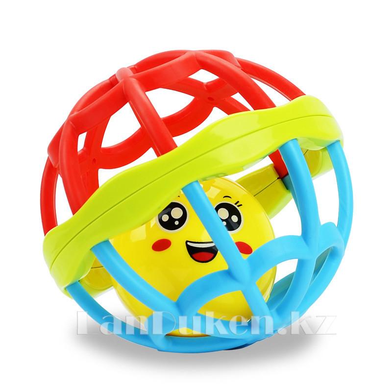 Погремушка для детей (прорезыватель) в виде шара - фото 4