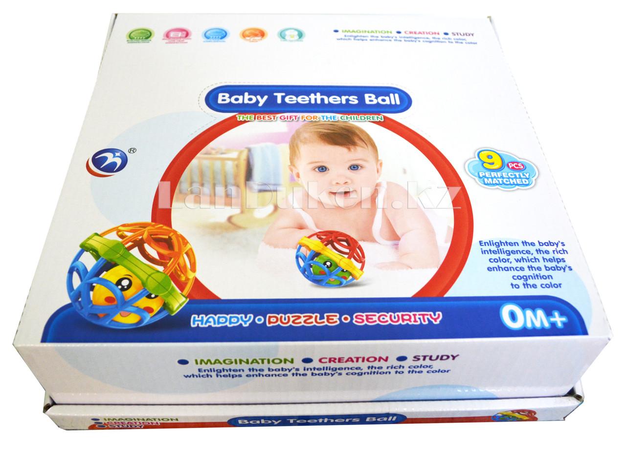 Погремушка для детей (прорезыватель) в виде шара - фото 6