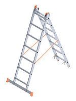 Лестница двухсекционная (тип А) в Атырау 2x9 ступень(2x247=494 см)
