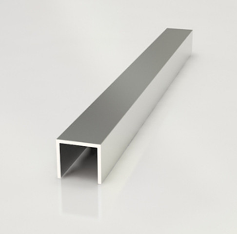Планка торцевая для фартука (П-образный) 6мм  3м