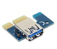 Riser / Райзер PCI-E 1x - 16x, Molex, версия 007, фото 3