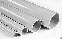 Труба ПВХ жёсткая атмосферостойкая д.40мм, тяжёлая, 3м, цвет серый, фото 1