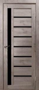 Межкомнатная дверь из экошпона Вертикаль венге,серый