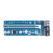 Riser / Райзер PCI-E 1x - 16x, Molex, версия 007