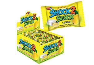 SHOCK2 SHOCK Суперкислая жвачка с жидким центром Лимон. Турция