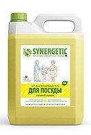 SYNERGETIC для мытья посуды, детских игрушек Лимон (канистра ПЭ 5л)