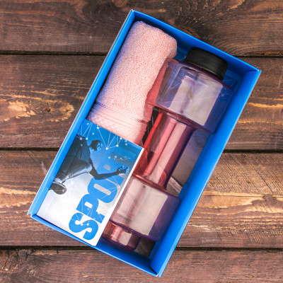 "Набор ""Energy"", бутылка для воды (500 мл), полотенце, блокнот"