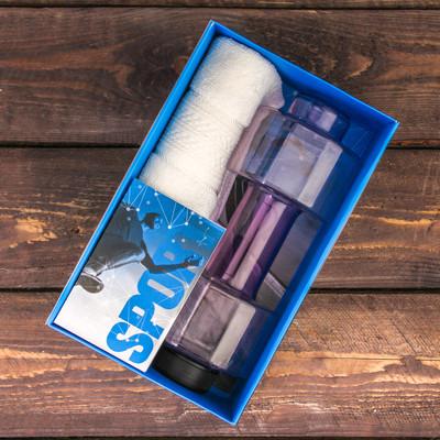 "Набор ""Sport"", бутылка для воды (500 мл), полотенце, блокнот"