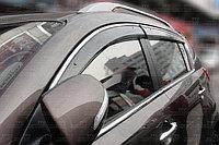 Ветровики/Дефлекторы боковых окон с хромом на Kia Sportage/Киа Спортейж 2010 -