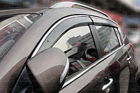 Ветровики/Дефлекторы боковых окон с хромом на Kia Sportage/Киа Спортейж 2010 -, фото 1