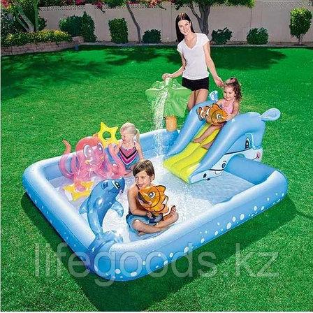 """Надувной игровой бассейн """"Фантастический аквариум"""" с горкой, Bestway 53052, фото 2"""