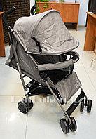 Прогулочная коляска трость Fnixbebe с казахским орнаментом серый