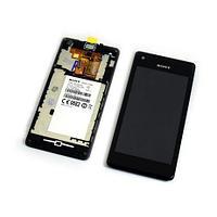 Дисплей Sony Xperia M C2005 , с сенсором, цвет черный