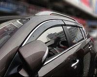 Ветровики/Дефлекторы окон c хромированным молдингом на Hyundai Tucson ix35/Хендай Тюксон ix35 2010 -