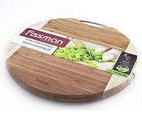 8803 FISSMAN Разделочная доска круглая 35.6x1.9 см (бамбук)