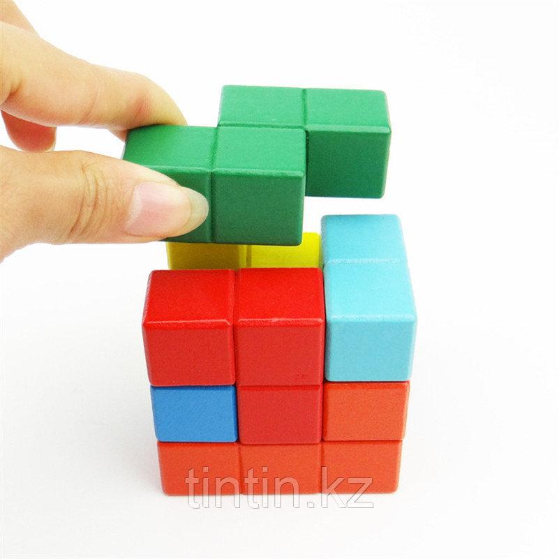 Деревянный кубик-тетрис (Кубик Никитина)