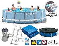 Каркасный сборный бассейн Intex Metal Frame Pool. 457х122см.