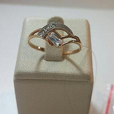 Кольцо золотое / 18 размер / фианит