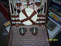 Набор для пикника в корзине