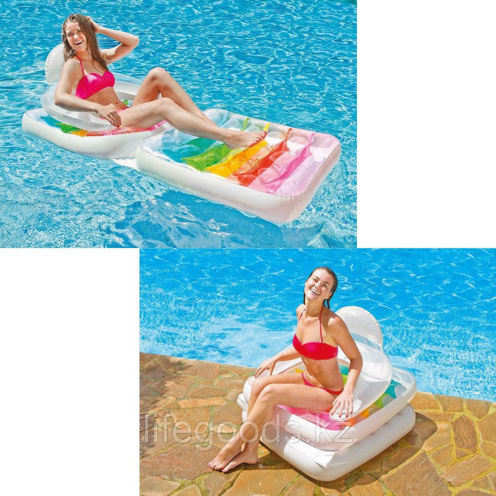 Надувной пляжный матрас-кресло со спинкой, Intex 58847 - фото 1