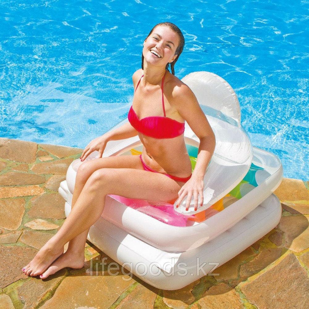 Надувной пляжный матрас-кресло со спинкой, Intex 58847 - фото 3